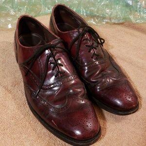 Mens Dexter Leather Wing Tips Burgundy 10 1/2N